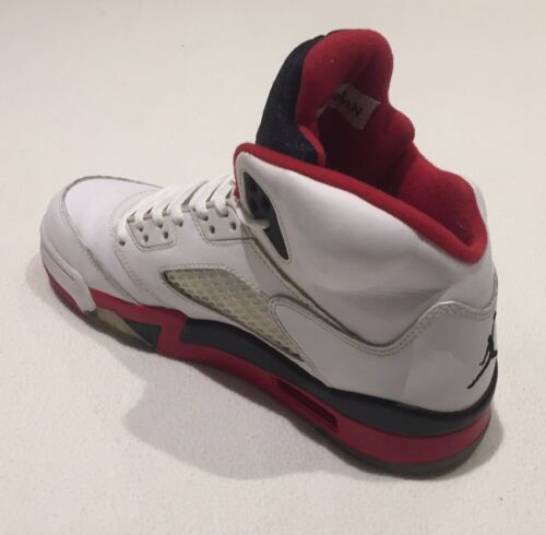 Vintage V 5 Rare Ball Entrenadores 6 Nike Uk Basket Fire Red Retro Hi Air Top Jordan Ow7xqw6R