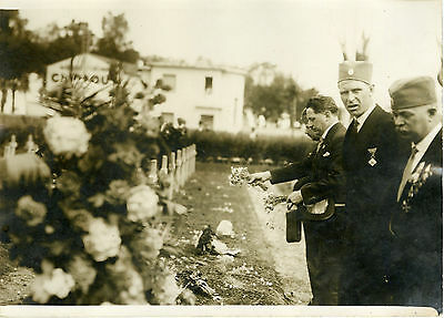 """anciens Combattants Yougoslaves Thiais 1931"" Photo Originale G.devred(agce Rol) A Prueba De Encogimiento"