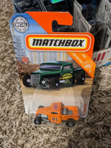 35 Ford pickup matchbox  custom dukes of Hazzard general Lee rat rod.