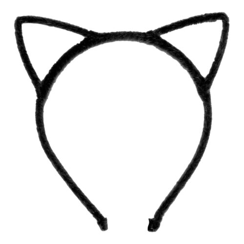 Fancy Dress Costume Wired Lace Cat Ears Headband Festival Hen Night Kitty Colour