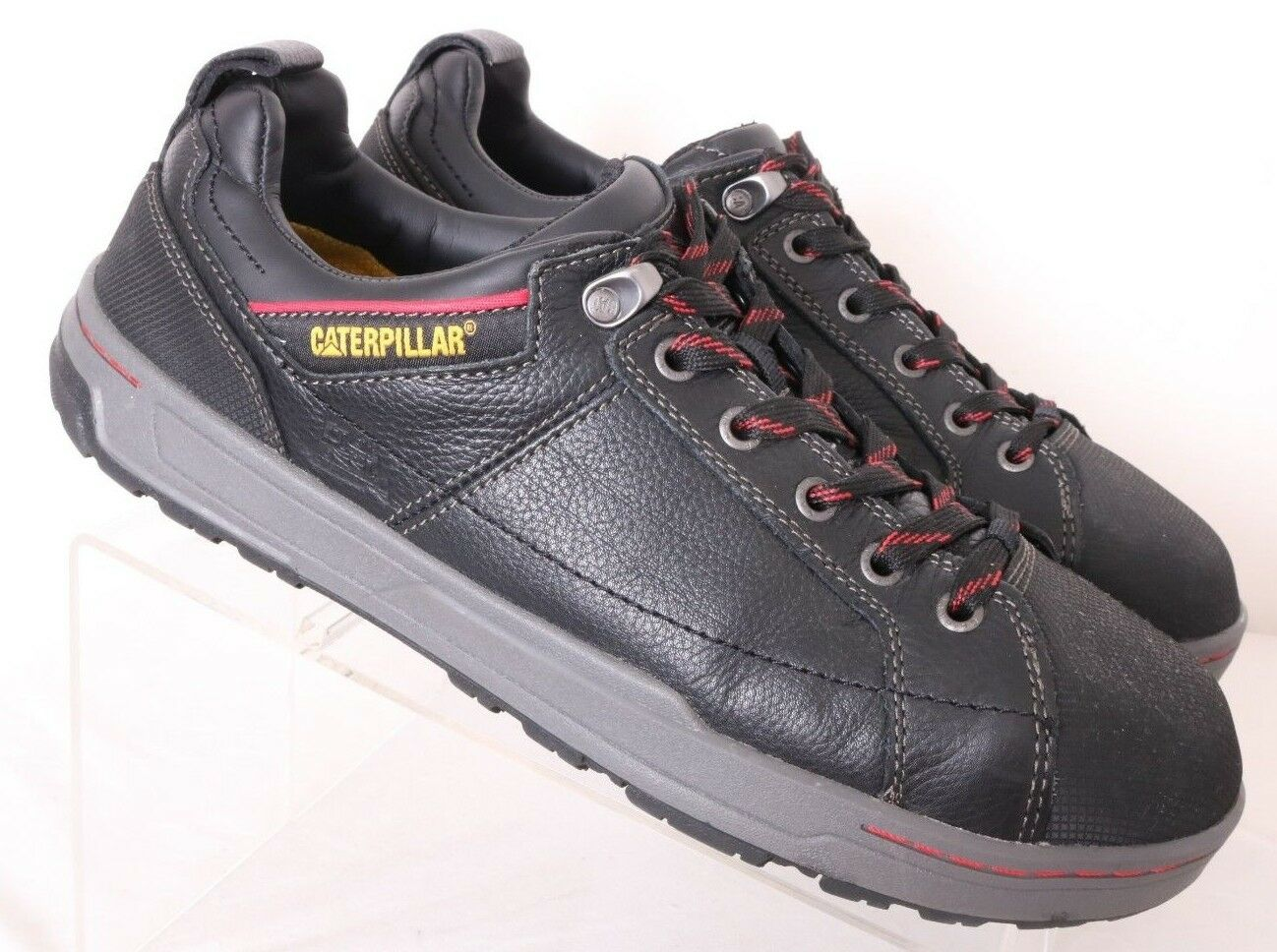 Caterpillar CAT Brode Steel Toe EH Black Work Safety Sneakers Men's US 10