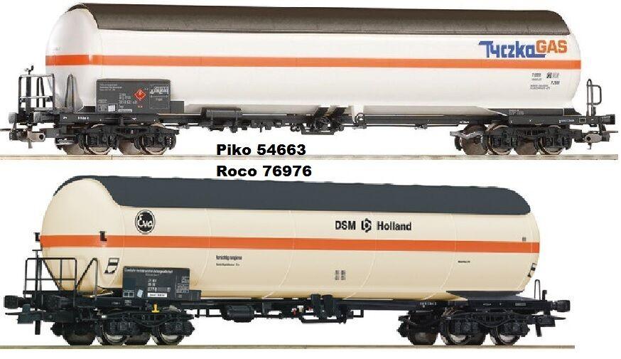 Roco 76976+ Piko 54663 2 Car Gas Boiler Optional Wheelsets for Märklin Free