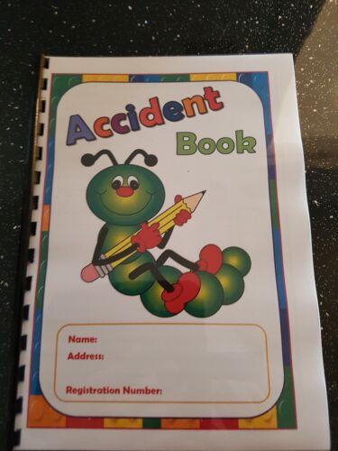 Childminder Accident Book Caterpillar theme A5 A4 register