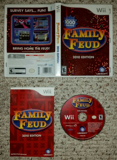 Family Feud -- 2010 Edition (Nintendo Wii) COMPLETE TESTED FAST SHIPPING