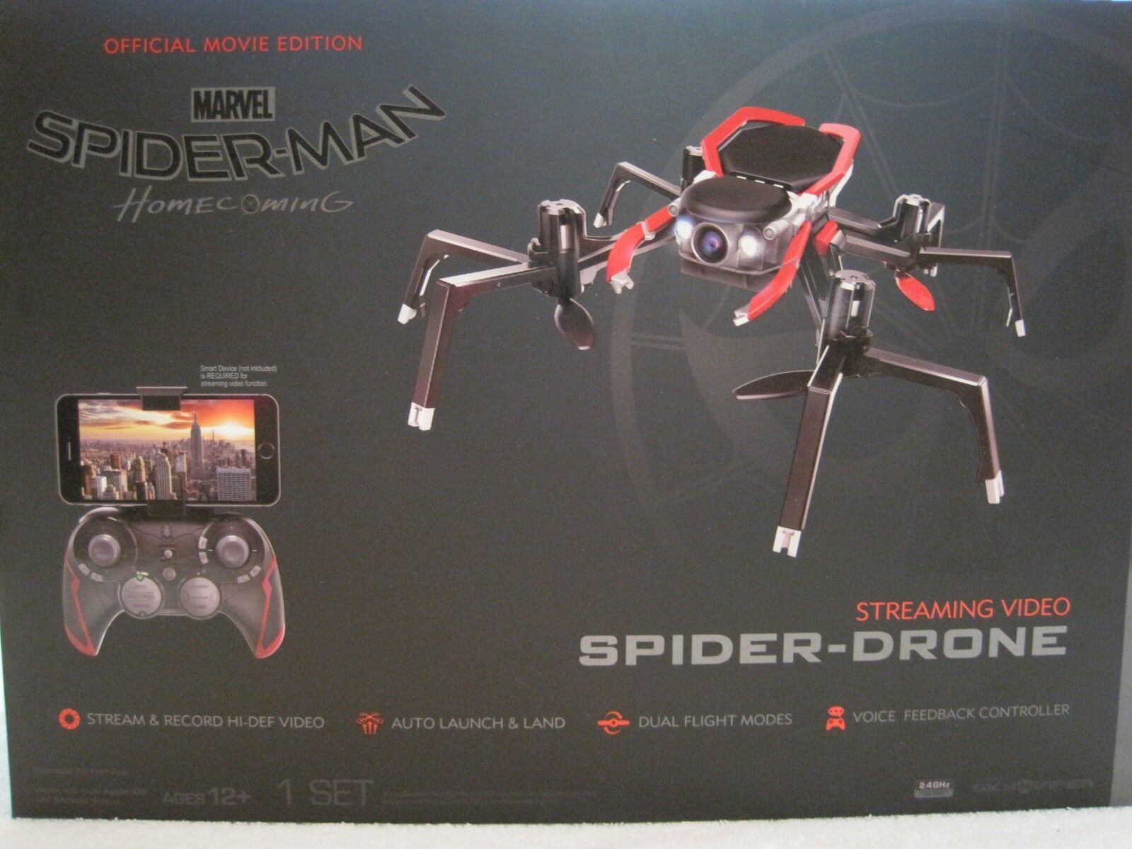2017 MARVEL SPIDERMAN HOMECOMING STREAMING VIDEO SPIDER DRONE--NEW--UNOPENED