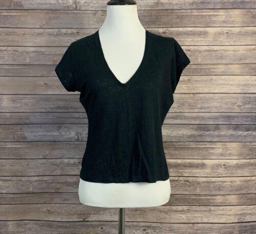 John Varvatos Black Linen Shirt (Size: M)
