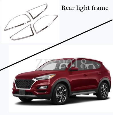 ABS Chrome Car Rear Back Fog Light Lamp Cover Trim for Hyundai Tucson 2019-2020