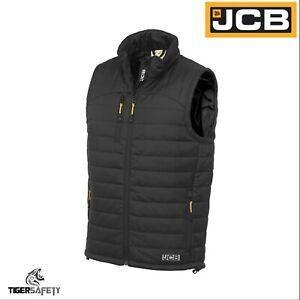 JCB-1945-Mens-Black-Lightweight-3M-Thinsulate-Padded-Puffer-Gilet-Bodywarmer