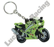 Kawasaki ZX-6R 03 04 rubber key ring motor bike cycle gift keyring chain B1H B2H