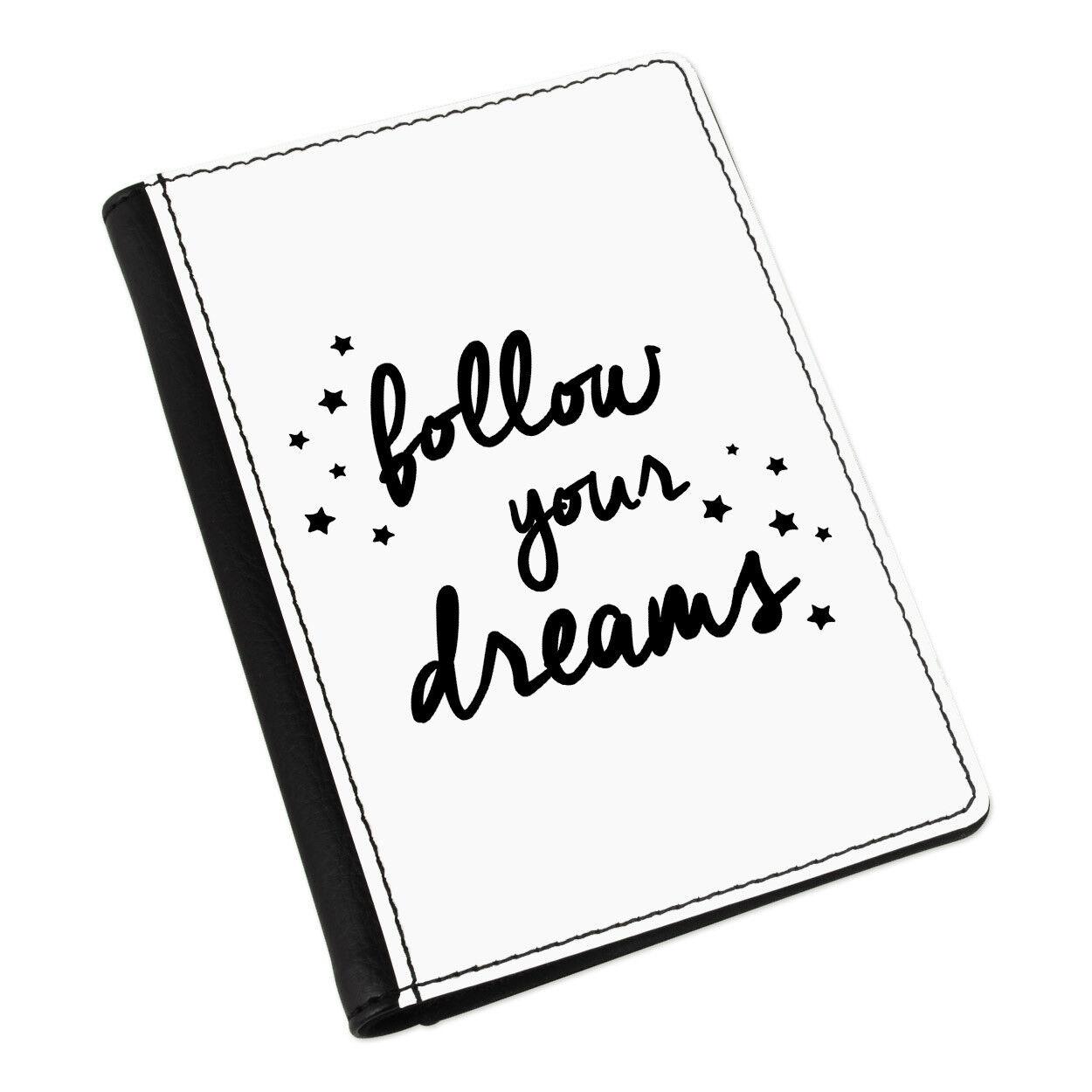 Follow your dreams Housse Porte-Passeport Étui Housse dreams Porte-feuille - bb6f90