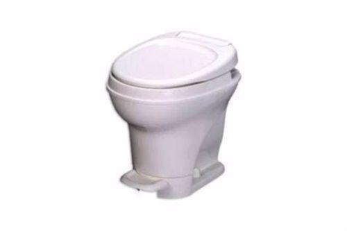 RV Thetford Aqua Magic V Toilet RV Parchment Color High Foot Flush 31672