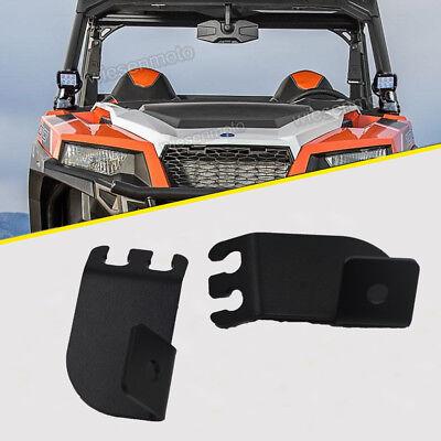 For Polaris RZR A-Pillar Upper Hood Light Pods+Roof Light Bar Combo Mount Kits