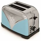 Official VOLKSWAGEN Camper Van Stainless Steel 2 Slice Blue Toaster Retro Gift