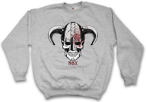 Valhalla Odin Thor Sweatshirt Norsemen Norse Iv Pullover Viking Vikings Skull OqPwPzB