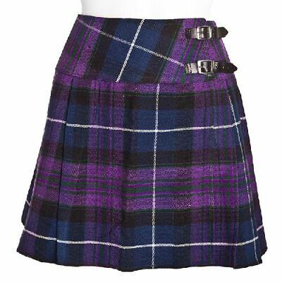 New Ladies Wallace Tartan Scottish Mini Billie Kilt Skirt Sizes 8-16UK