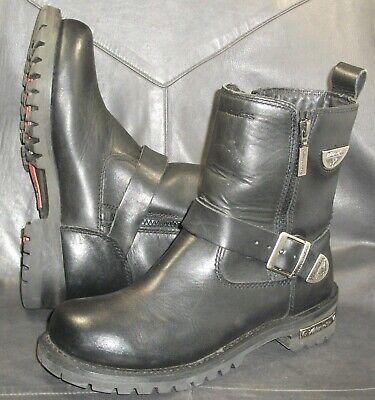 Milwaukee Ladies Black Afterburner Side-Zip Motorcycle Boots MB207