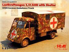 ICM 1/35 Lastkraftwagen 3,5 t AHN w/Shelter WWII German Ambulance Truck # 35417