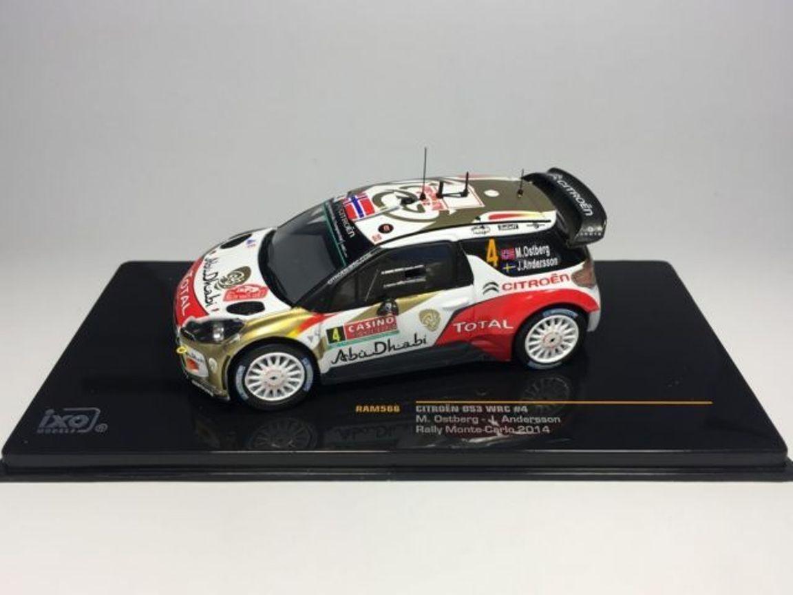 CITROEN DS3 WRC  4 OSTBERG ANDERSSON RALLYE MONTE CARLO 2014 RAM566 1 43 RALLY
