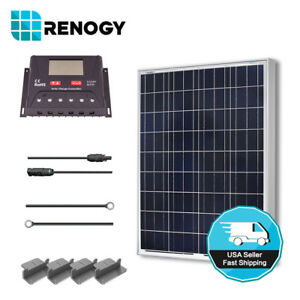 Renogy-100W-12V-Solar-Panel-Starter-Kit-30A-LCD-Charge-Controller-Off-Grid-Power