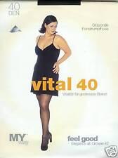 Stützstrumpfhose, vitalisiert müde Beine, 40den, schwarz, 44-46  *MY way*