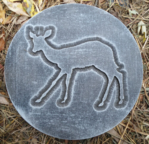 Deer plaque plastic garden casting plaque mold mould  see more in my store