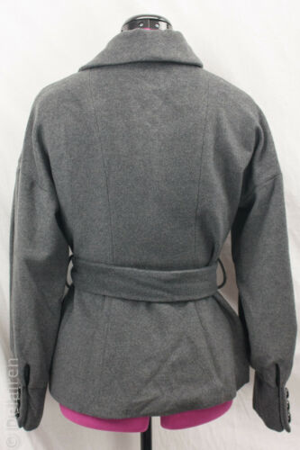 Breasted Grey Belt Sleeve Sz Milly Wool Original Pleated 100 Double Ny Coat 6 znSqExgw