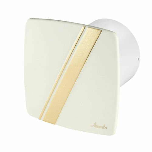 100mm Bathroom Extractor Fan with Timer and Cream Gold Wave Panel