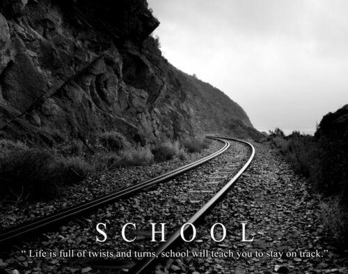 School Classroom Student Motivational Poster Art Print Teacher Trains MVP492