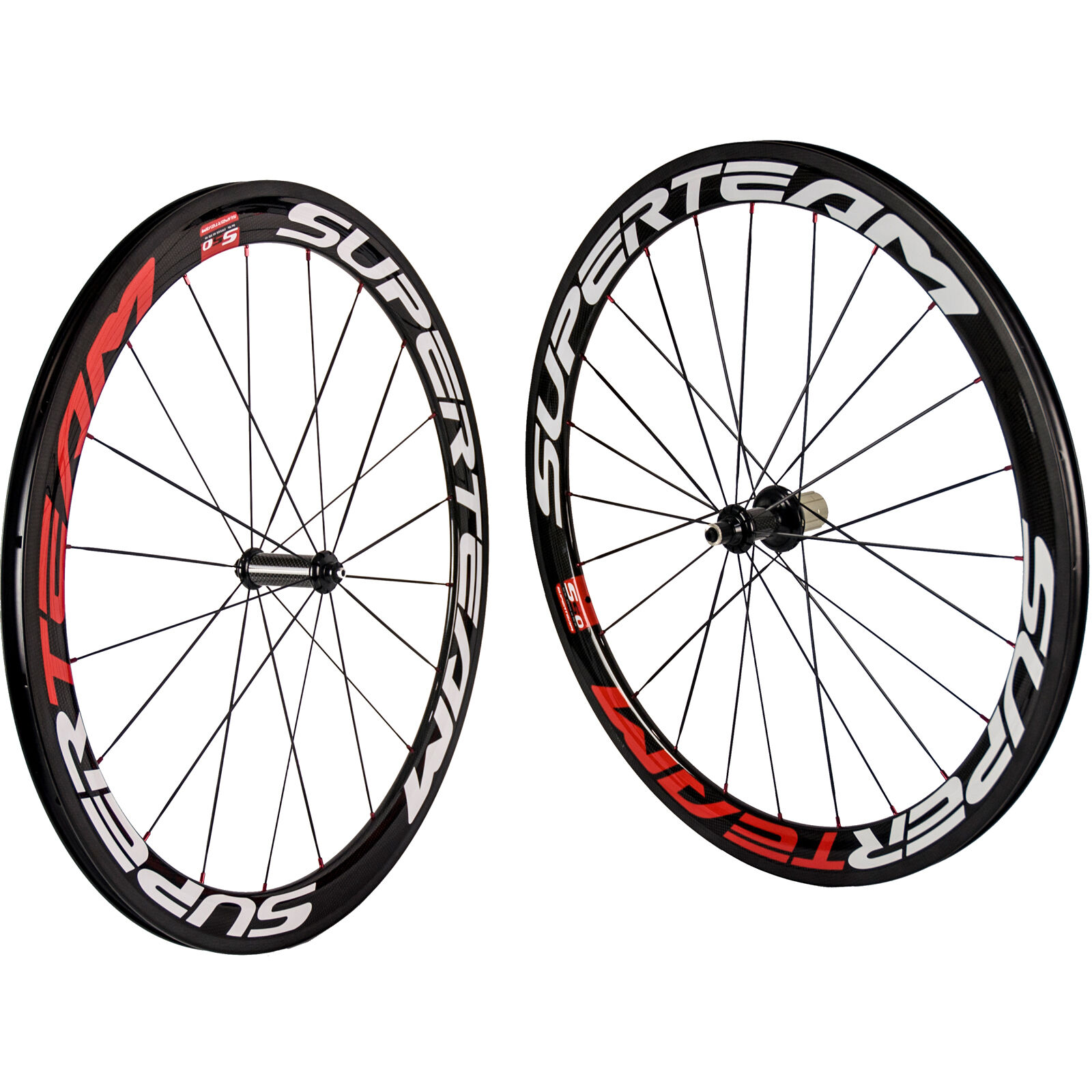 SUPERTEAM Bicycle  Carbon Wheelset Clincher Red Nipple 50mm R36 Carbon Bike Wheel  online shopping