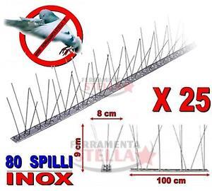 Dissuasori volatili piccioni colombi uccelli in acciaio for Dissuasori piccioni amazon