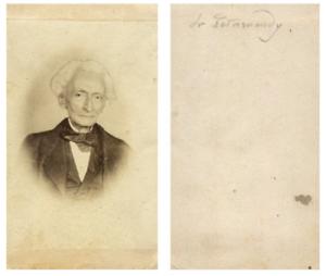 Portrait d'un homme CDV vintage albumen carte de visite,  Tirage albuminé