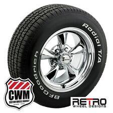 """15 inch 15x7""""/15x8"""" Retro Chrome Wheels Rims Tires for Pontiac Firebird 82-92"""