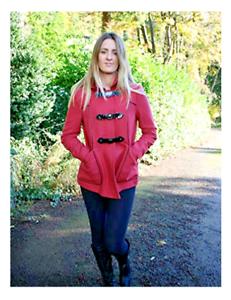 New Ex Topshop Womens Wool Blend Red Warm Duffle Coat UK Size 6,8,10,12