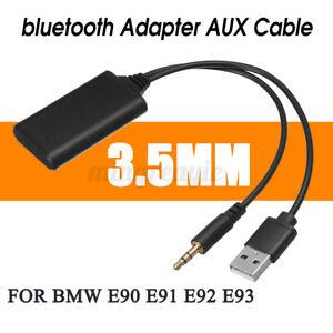 3.5MM MUSICA AUDIO bluetooth ADATTATORE AUTO AUX CAVO ADATTO PER BMW E90 E91