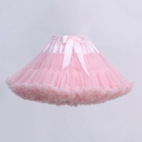 Women Girl Petticoat Crinoline Underskirt Swing Ballet Tutu Skirt Lolita Dress