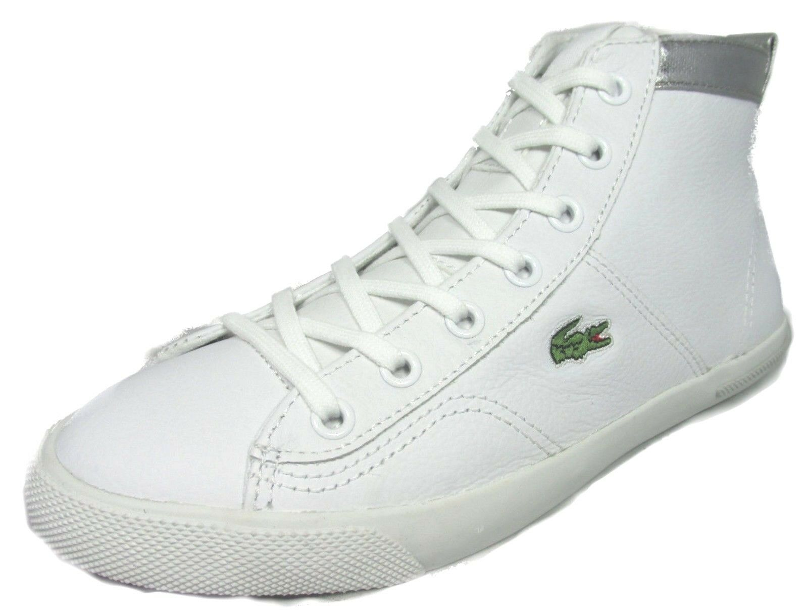 LACOSTE 725SPW4005108 RAMER HI RUS Wmn's (M)White/Silver Leather Lifestyle Shoes