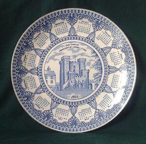 MASONS-IRONSTONE-CHINA-CALENDAR-PLATE-CASTLE-KEEP-RINGTONS-1988-BLUE-amp-WHITE