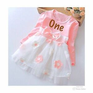 1st Birthday Outfit Girl.Details About Girls 1st First Birthday Dress Cake Smash Outfit Birthday Girl Pink Tutu Dress