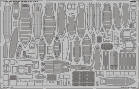 Eduard 1  200 HMS Hood del 4 - liv Rafts