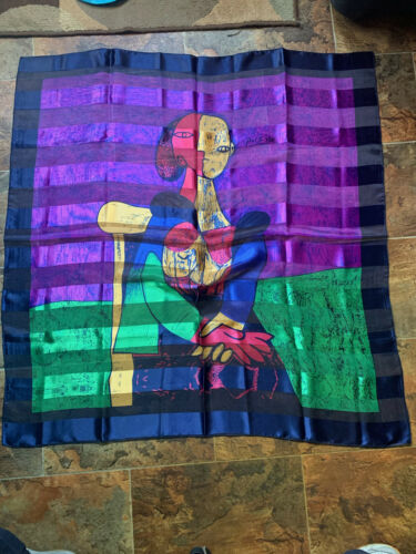 Picasso Silk feel Scarf Art Picture Scarf Wall Ha… - image 1