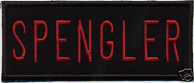 5 inch GHOSTBUSTERS SPENGLER NAME TAG IRON ON PATCH