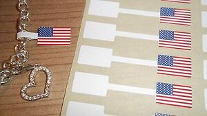 Amerikanische Flagge Schmuck Preisaufkleber 16 X 54mm Sticky Label