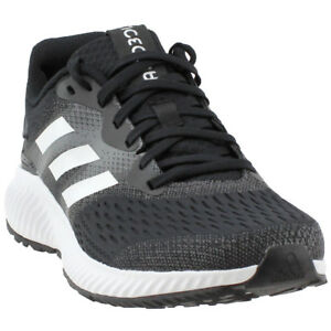 pretty nice fba2a 286ab Image is loading adidas-aerobounce-Running-Shoes-Black-Mens