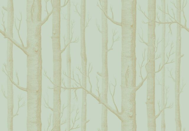 Cole And Son Whimsical Woods Wallpaper 1035023 Eau De Nil Green Gold One Roll