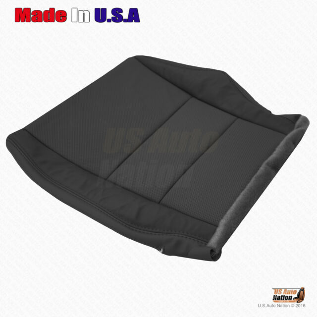 Driver Bottom Perforated Leather Seat Cover BLACK FITS