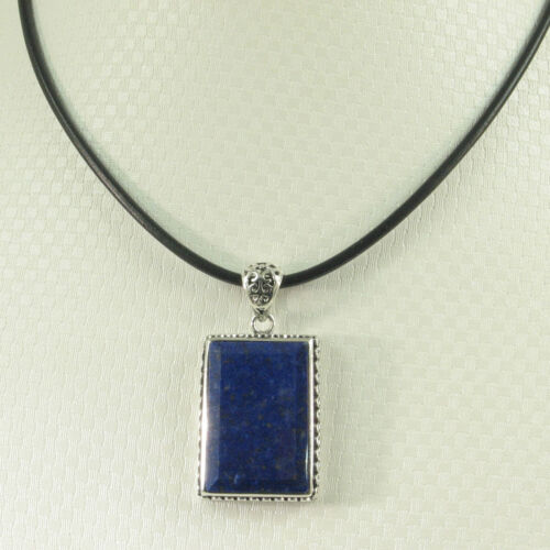 Genuine Blue Lapis Lazuli Pendant Necklace Sets Solid Sterling Silver .925 TPJ
