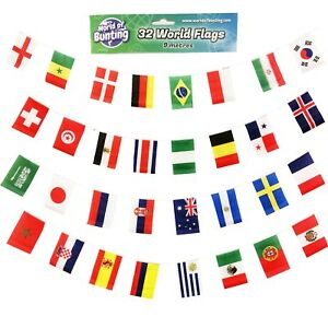 Drapeaux-Du-Monde-Bunting-FOOTBALL-9-m-pays-International-tokyo-2020-Olympic