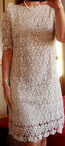 6b50c1d4abc Chargement de l image en cours Superbe-robe-guipure-dentelle-beige-40-Laura- CLEMENT-