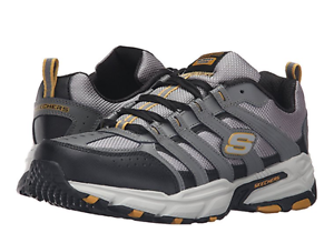 SKECHERS 51274/GYBK STAMINA PLUS RAPPEL Mn's Price reduction Grey Leather Athletic Shoes The latest discount shoes for men and women