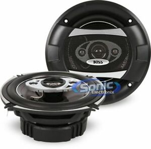 "BOSS P55.4C 600W 5.25/"" 4-Way Full Range Diecast Phantom Car Speakers"